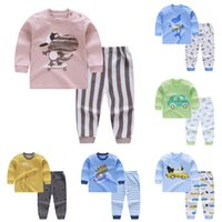 Wholesale unisex clothing for newborn baby resale online - Oeak2019 Summer Unisex Newborn Clothes New Born Overalls Baby Clothes For Boys Striped Tshirt Baby Set Clothing