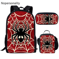 Wholesale cool kids backpacks for school resale online - Nopersonality Cartoon Spider Print Kids Schoolbags set Cool School Bag for Children Stylish Student Children Bookbags