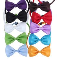 ingrosso vestiti da guarigione-Dog Neck Tie Pet Bowties Genteel Bowknot Handsome Cat Cravatte Collari Pet Grooming Forniture Abbigliamento per cani Abbigliamento Accessori per animali domestici