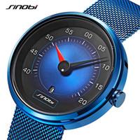 Wholesale cars wristwatches resale online - SINOBI Men Watch Man Car Dashboard Creative Watches Fashion Speed Sports Drive Calendar Men Stainless Steel Quartz Wristwatches