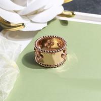 anéis de azora venda por atacado-Anéis Quatro Folhas Trevo Design Anel de Womans Nature Zircon marca de jóias Designer de Womans