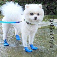 Wholesale dog sunglasses free shipping resale online - Pet Waterproof Rain Shoes Winter Anti slip Boots Socks for Small Puppy Dog