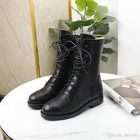 Wholesale water toes for sale - Group buy 2019 Autumn and Winter New Style New fashionable women s boots Water drill rivet boots Women s bare boots Flat bottom comfort size