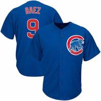 кружевные майки оптовых-Чикаго 6 Stroman 13 Perez Cubs 9 Baez 20 Дональдсон 22 Кершоу 44 Риццо 66 Puig Blue White Mens Home Cool Jerseys
