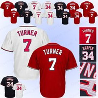 Wholesale nationals baseball online - 100 Stitched Washington Nationals Baseball Jersey Trea Turner Baseball Jerseys Adult shirt Top quality