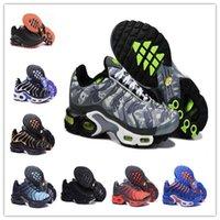 chaussures de sport pour hommes achat en gros de-2019 Nouveau Design Baskets Top Qualité TN Hommes ShOes Respirant Mesh TN Hommes Running Chaussures Sport Baskets Baskets