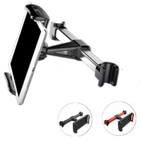 Wholesale car mount tablet pc holder resale online - For iPhone iPad Samsung Back Seat Phone Holders Stand Universal Car Rear Seat Cell Mobile Phone Tablet PC Brackets Backseat Mount Car Holder
