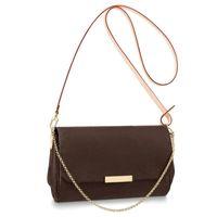 lüks tasarım cüzdanları toptan satış-Tasarımcı lüks çanta çanta PU deri Favori pursese çanta zincir kayış çiçek desen kadınlar tasarımcı omuz crossbody çanta çanta