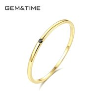 Wholesale solid 14k rings for sale - Group buy Gem time Classic Simple Round Cz Solid k Gold Rings For Women Wedding Engagement Fine Jewelry Yellow Gold Anillos Au585 R14005 Y19052301