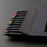 12colors  pack professional Colored Pen Coloring Pencil Students Paint Pencil Case Art Student Supplies