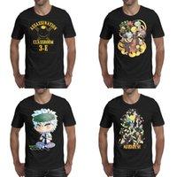 tanques de moda lindos al por mayor-Impresión para hombre Assassination Classroom Role collection camiseta negra Funny Fashion Superhero Shirts American Nagisa Shiota tank cute logo