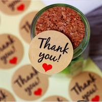hochzeit danken taschen großhandel-60 stücke Kraftpapier Geschenktüten Danke Papiertüten Hochzeit Weihnachten DIY Festliche Party-Event Party Taschen Wrapping Supplies Decorati
