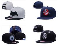 привет шляпы оптовых-Оптовая 2019 супергерой Привет хоп шапки мужчины женщины мода регулируемые шляпы высокое качество Супермен шляпа футбол бейсбол баскетбол snapback шляпы