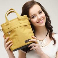 ingrosso sacchetti di pannolini gialli-Landuo mommy borse per pannolini mummia mini borse passeggino semplice carrier borse per il pannolino grigio rosso giallo blu 23 * 25 * 11cm MPB12