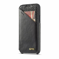 Wholesale ultrathin pocket phone online – custom UltraThin Magnetic Braided Card Bag Flip Leather Wallet Pouch Clutch Stand Holster Protector High end Phone Shell for iPhone XS Max XR s