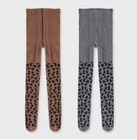 Wholesale leggings leopard children resale online - Kids Leopard Stockings INS Pantyhose Leopard Grain Pattern Tights Baby Soft Cotton PP Bottoms Children Princess Leggings hot GGA2781