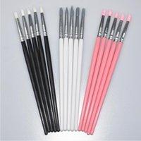 tırnağara sanat fırçaları araçları nokta toptan satış-5 Adet Silikon Nail Art Kalem Fırça Oyma Kabartma Hollow Çömlek Heykel Fırça UV Jel Şekillendirme Kil Süsleyen Lehçe DIY Araçları Set D18120801