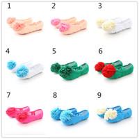 ingrosso adulti scarpe fiori-Scarpe da punta per bambini con fiore multicolore Le ragazze praticano scarpette da ballo scarpe da ballo per bambini piccoli adulti 3-16T