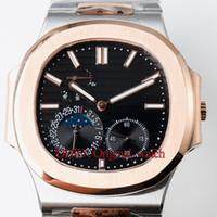 ingrosso donne orologi in oro nero-Moda orologi da donna di lusso montre de luxe orologio automatico in oro rosa 316L cassa in acciaio inossidabile banda quadrante nero alta qualità reloj de lujo