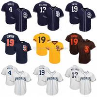 Wholesale cool base jersey sizes for sale - Group buy 50th Patch San Diego Manny Machado Padres Jersey Wil Meyers Tony Gwynn Cool Base Mesh Baseball Jerseys Size M XXXl