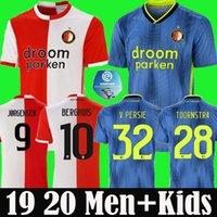 fußball trikots feyenoord großhandel-Thailand 19 20 Feyenoord Fußball-Trikot 2019 2020 V.PERSIE Berghuis JORGENSEN FEYENOORD VILHENA Fußballhemden Männer + Kinder-Kit Uniformen