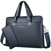 Wholesale white briefcase men for sale - Group buy Business Men Briefcase Large Capacity Male Messenger Bags Quality PU Leather Luxury Designer Laptop Bag Office Shoulder Bag
