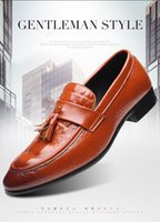 Wholesale unique mens dress shoes heels resale online - Hot Sale Mens dress shoes Crocodile Grain loafer big size men work shoes elegant mens unique design shoe casual driving shoes for Men zy10