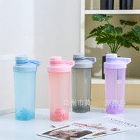 Wholesale shaking bottle for sale - Group buy Plastic Shaker Bottles Single Layer Handheld Seal Airtight High Capacity Shaking Cup Fashion Portable With Different Colors yk J1