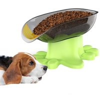 Wholesale cat basin resale online - Travel Fancy Pet Dog Cat Feeding Bowl Water Dish Feeder Plastic Basin Feeders large Dog Bowls Pet products Supplies