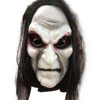 Wholesale zombie face mask resale online - Halloween Zombie Mask Props Grudge Ghost Hedging Zombie Mask Realistic Masquerade Halloween Mask Long Hair Ghost Scary Masks
