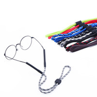 cuerdas de anteojos al por mayor-Gafas Cadenas de gafas robustas ajustables Correa deportiva Cordones Retenedor de gafas de sol con tubo de silicona punta cordón cordón cordón