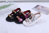 sandales sport étoiles achat en gros de-Été nouveaux rivets étoiles européennes et américaines Hook Loop sandales de sport occasionnels mode femmes ouvert chaussures orteils