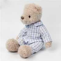 Wholesale brown puppet resale online - 20180523 CM Cute Dressed Brown Teddy Bear Plush Toy Soft Sleeping Mate Bear Animal Stuffed Toy Doll Gifts For Appease Baby D1150n15