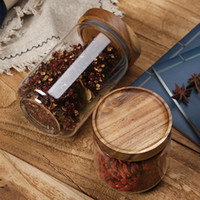 Wholesale kitchen canisters for sale - Group buy 500ML ML ML Food Storage Cereal Container Air Tight Canisters With Bamboo Lids Glass Jars Kitchen Storage Containers