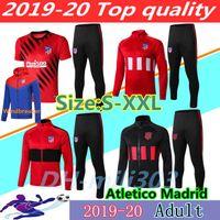 polo trainingsanzüge großhandel-2019 2020 Fußballjacke Trainingsanzug Chandal 19 20 beste Qualität Polo-Trainingshemd-Kit volle Reißverschluss Fußballjacke Sportbekleidung s