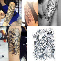 tatuajes corporales mano al por mayor-Hueso estatua de Buda Pegatinas de Tatuaje Temporal Tatuajes a prueba de agua pegatina flor brazo medio brazo Mujeres Mano Adulta Hombres Hombres Arte Corporal
