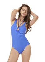 weiße farbe einteiliger badeanzug großhandel-Bandage Frauen Badeanzug Sexy Bikini Weiß Schwarz Blau Farbe One Piece Ribbed Backless Tankini gute Qualität Schnelle Lieferung