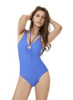 bikini une pièce couleur bleu achat en gros de-Bandage maillot de bain sexy bikini blanc noir bleu couleur une seule pièce côtelé dos nu tankini bonne qualité livraison rapide