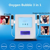 máquina de oxigênio usada venda por atacado-Venda quente de oxigênio bolha máquina de remoção de rugas faciais co2 bolha de limpeza profunda RF máquina de beleza ultra-sônica para uso de salão de beleza