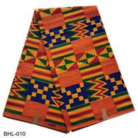 material de cera africano venda por atacado-Real Africano Cera Tecido Tecido De Cera Ankara 100% Algodão Confortável e de Boa Qualidade para o Material de Vestuário BHL-010