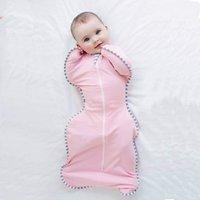 bebekler kolu toptan satış-Bebek Bebek Kundaklama Uyku Tulumu ile Fermuar ile Güvenli Bebek Geçici Kundaklama Çuval Arms Up 0-6 Ay