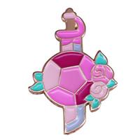 hermosos broches al por mayor-Steven Universe pin de solapa Broche de espada y escudo de Rose gemas de cristal en colores pastel insignia de poder hermosa decoración de cuarzo