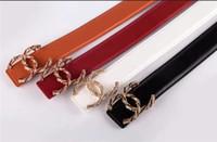 ingrosso cinture di signora-2019 Estate Moda Donna Cinture di lusso Cintura donna elegante in pelle verniciata Cintura donna elegante con fibbia in vita