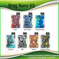 Wholesale vape nano for sale - Group buy Original Voopoo Drag Nano Pod Kit mAh Battery Resin Box Mod ml Refillable Vape Pod Cartridge Authentic