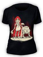 neuer punkrock großhandel-Afterlight Rotkäppchen T-shirt Damen Damen Gothic Punk Rock Emo Wolf Cool Lässig Stolz T-shirt Männer Unisex Neue Mode