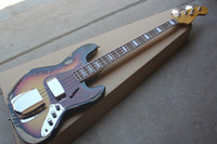vintage baslar toptan satış-Fabrika Özel 4 Strings Bas Gitar ile Vintage Vücut, Kırmızı Kaplumbağa Pickguard, Gülağacı klavye, Teklif Özelleştirilmiş