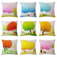 Wholesale vietnam white for sale - Vietnam Small Fresh Hemp Flax Pillow Back Cushion Cushion Can Customized