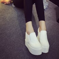Wholesale wide western boots resale online - Current2019 Increase Within Autumn Shoes Le Fuxie Women s Singles Shoe White Thick Muffin Bottom Canvas Woman A Hugh