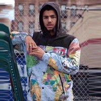 katlar dünya toptan satış-Lüks Ceket Erkek Giyim Erkek Kadın Dünya Haritası Yansıtıcı Tasarımcı Ceket Erkek Tasarımcı Ceket Kış Coat Boyut M-XXL