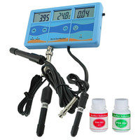 Wholesale ph ec monitor for sale - Group buy Freeshipping Multi Function In Orp Mv Ph Cf Ec Tds Fahrenheit Celsius Meter Tester Thermometer Water Quality Monitor Eu Plug